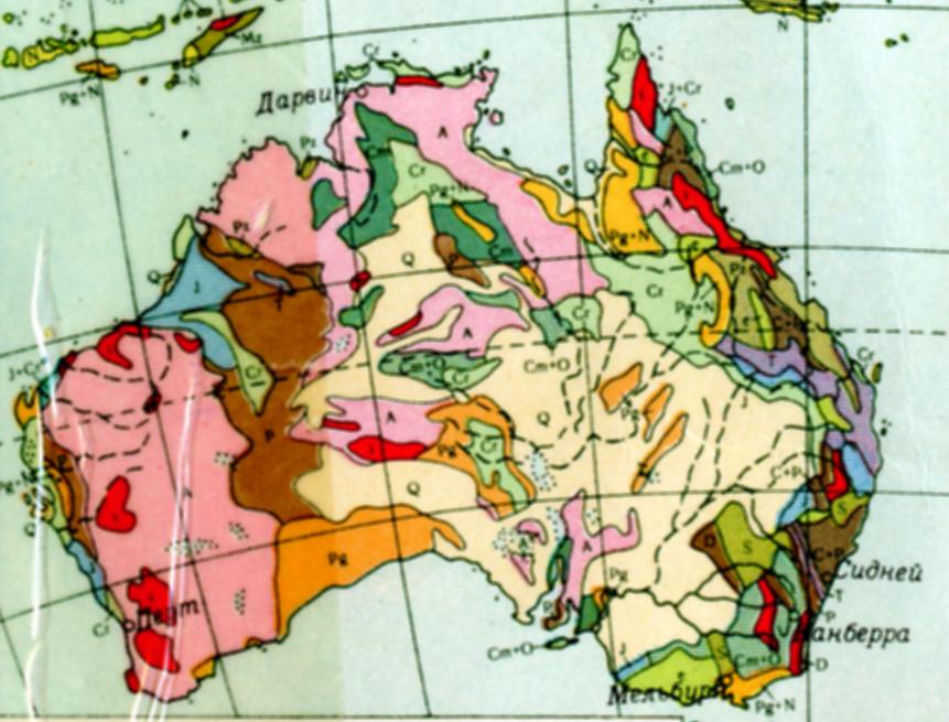 Геологическая карта материка
